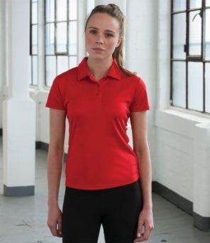 JC045 AWDis Just Cool Girlie Wicking Polo Shirt